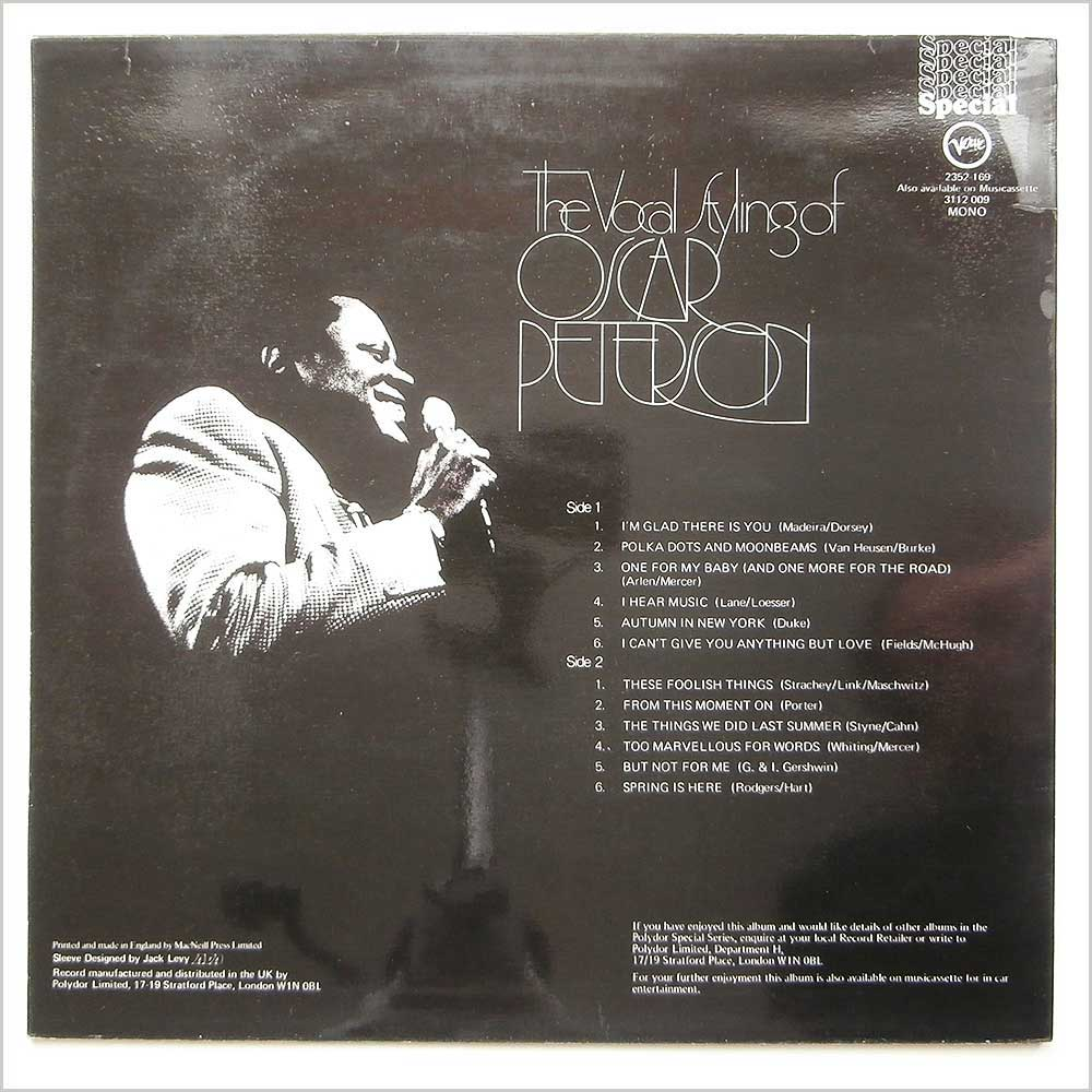 Oscar Peterson - The Vocal Styling Of Oscar Peterson (2352 169)