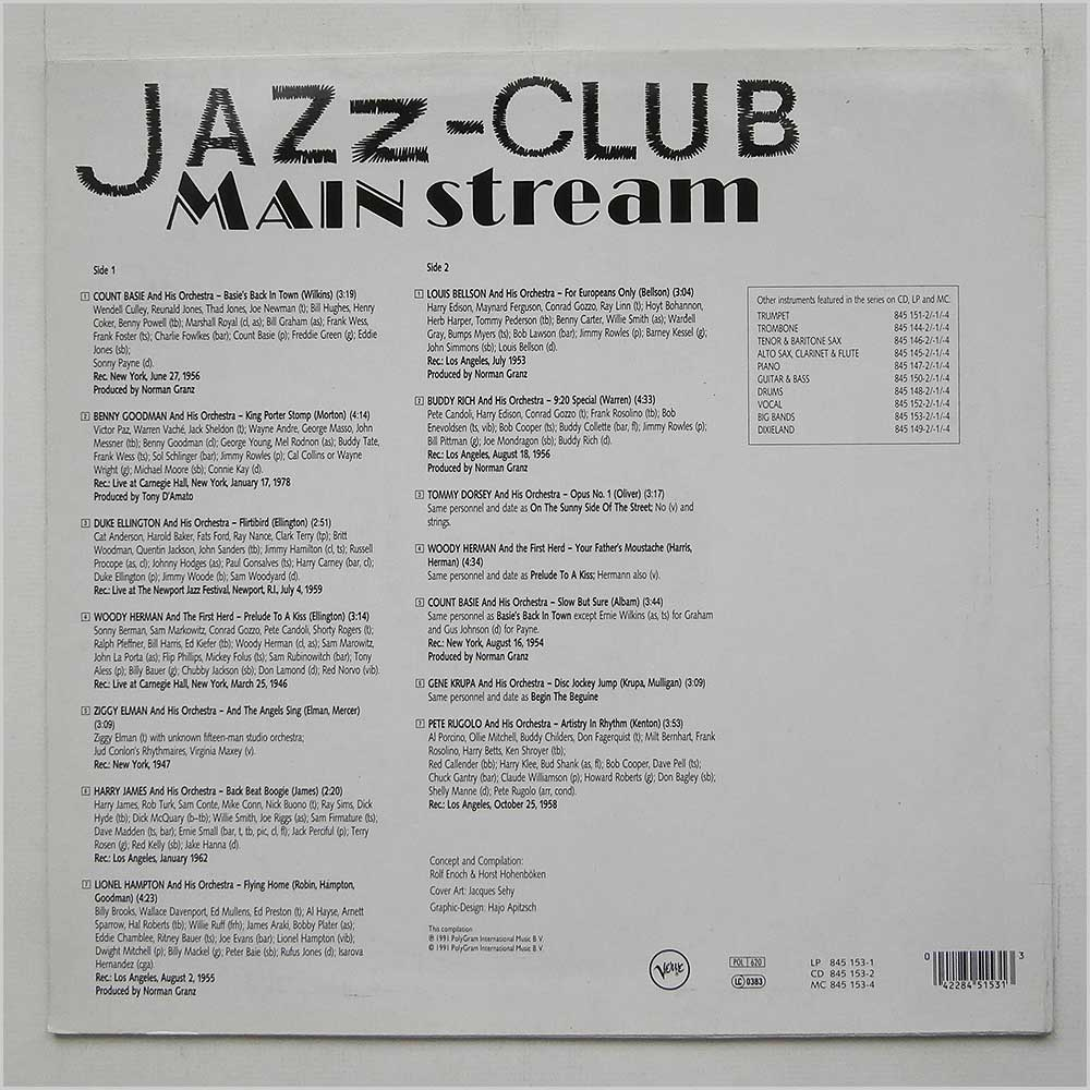 Various - Jazz Club Mainstream Big Bands (845 153-1)