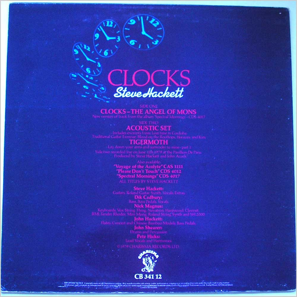 Steve Hackett - Clocks (CB 341 12)