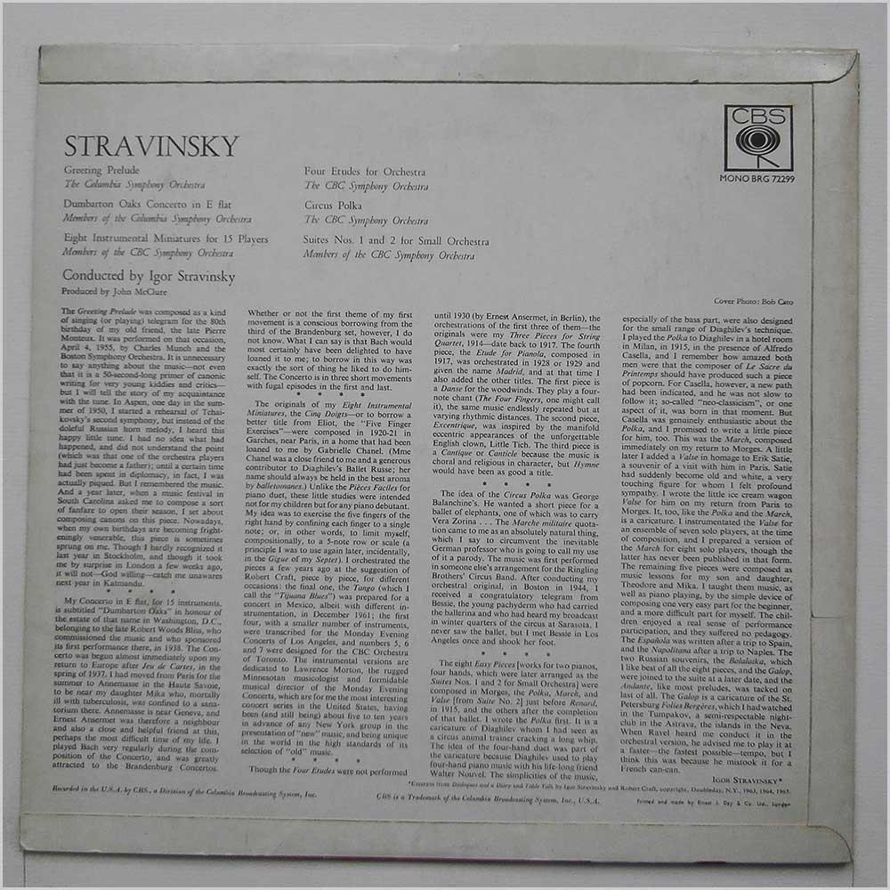 Igor Stravinsky Vinyl Record Classical Music Lp Classical Music
