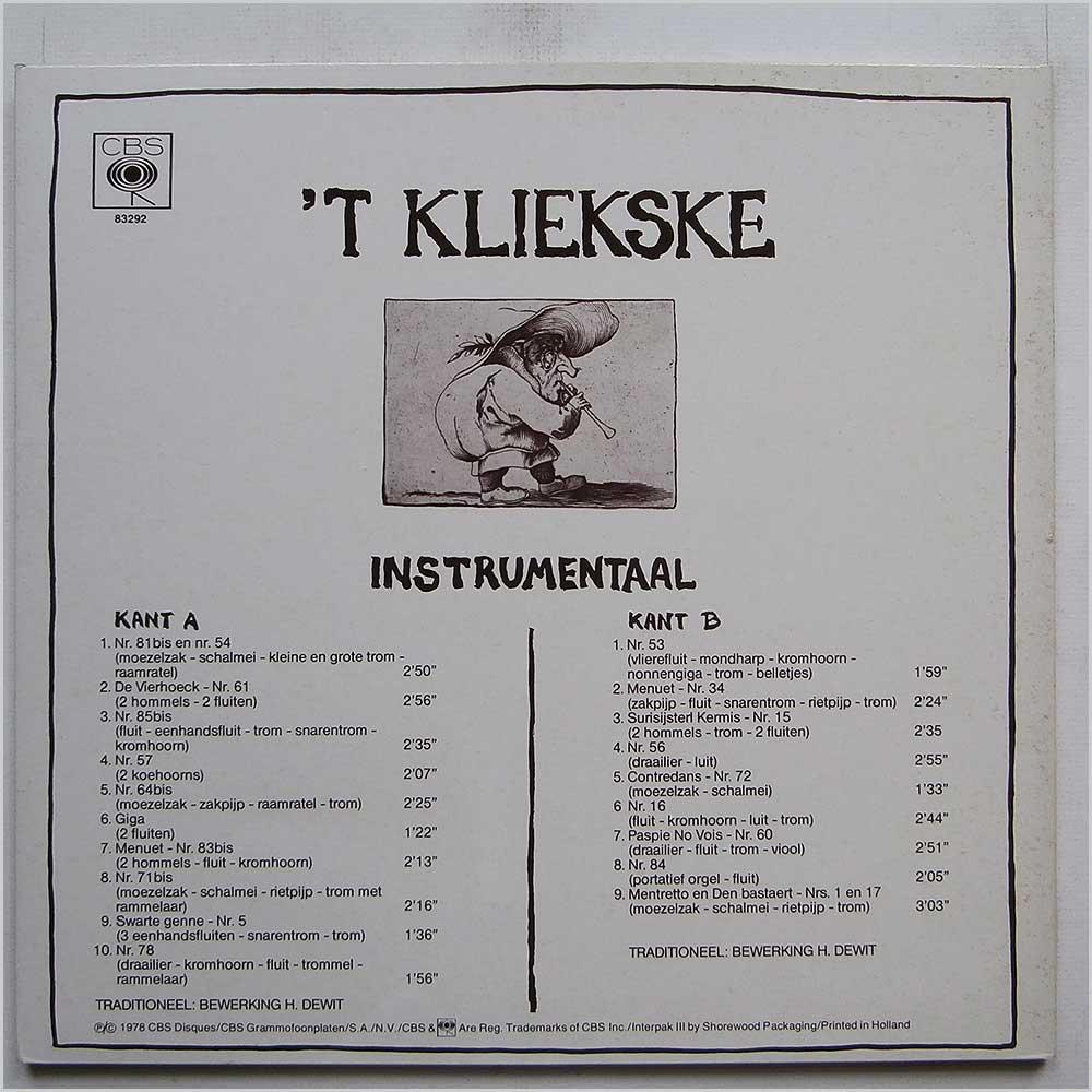 'T Kliekske 'T Kliekske Instrumental
