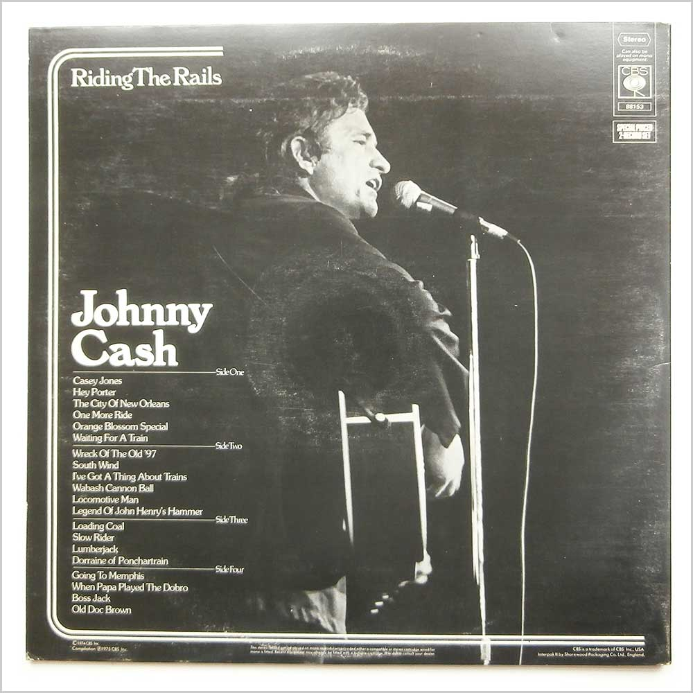 Johnny Cash - Riding The Rails (CBS 88153)