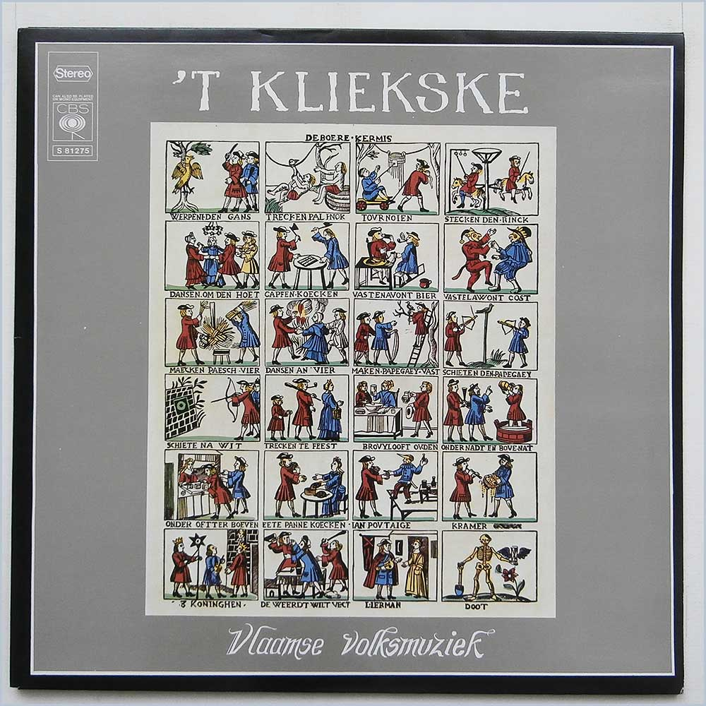 'T KLIEKSKE - Vlaamse Volksmuziek-Musique Populaire Flamande - 33T