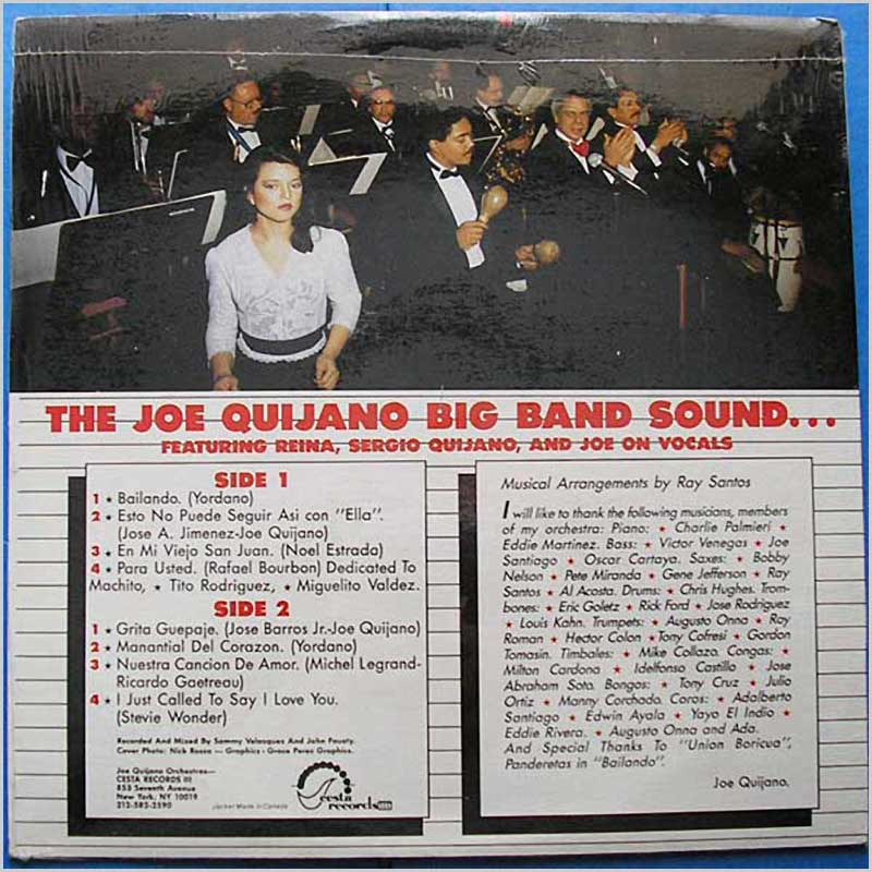 Joe Quijano - The World's Most Exciting Latin Orchestra and Review (CESLP20)