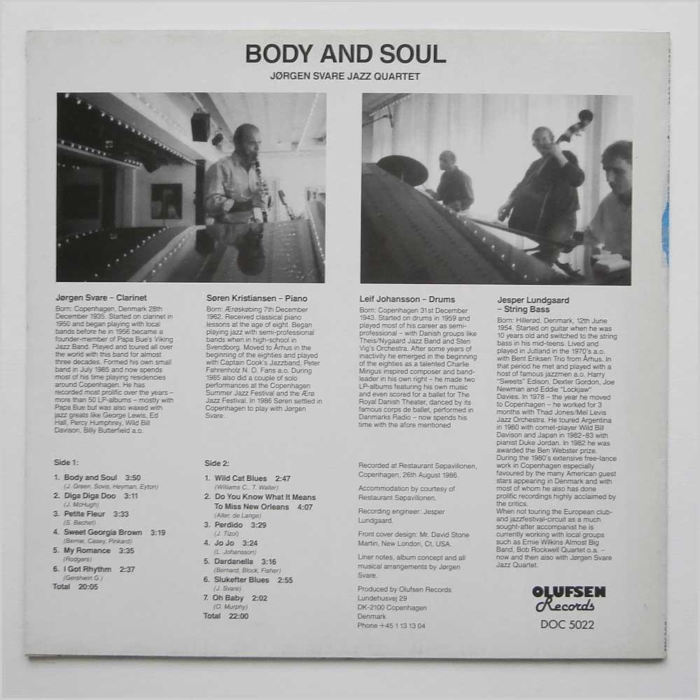 Jorgen Svare Jazz Quartet Vinyl Record Jazz Music LP Soul