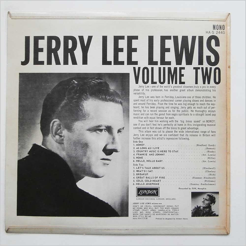 Jerry Lee Lewis - Jerry Lee's Greatest! (HA-S 2440)