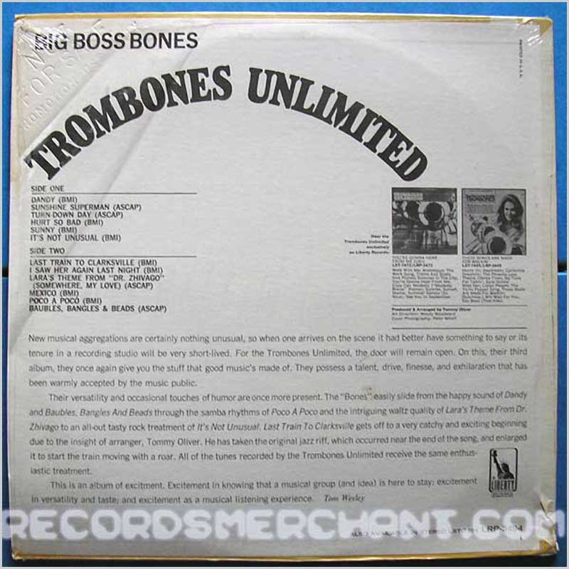 trombones unlimited vinyl record jazz music lp soul and jazz music record lp for sale. Black Bedroom Furniture Sets. Home Design Ideas