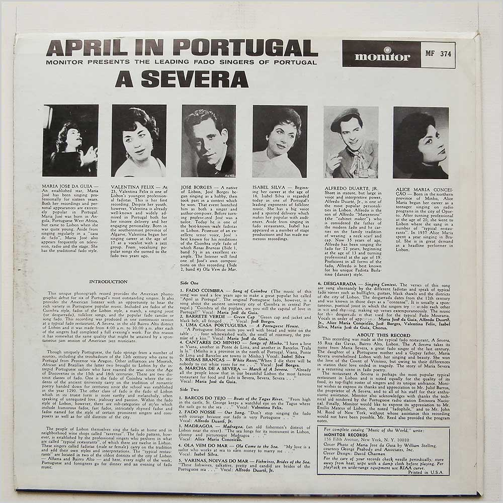 Various - April In Portugal A Severa (MF 374)