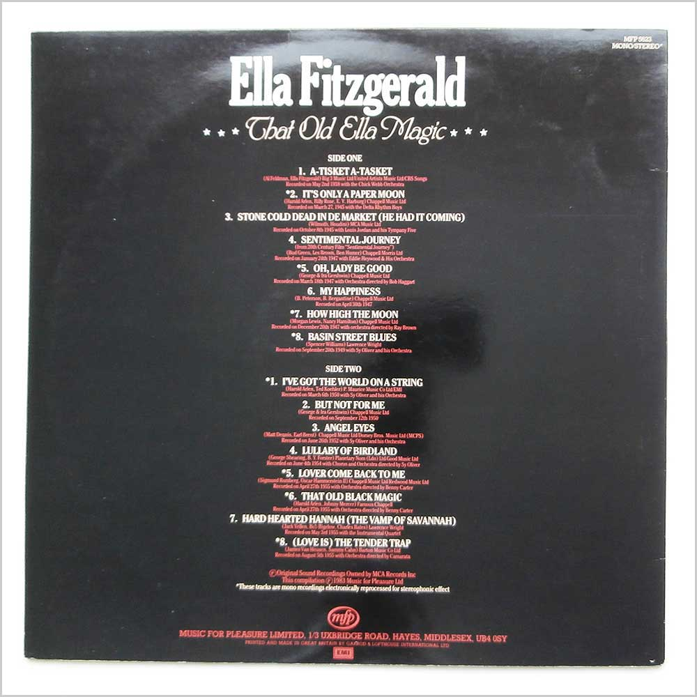 Ella Fitzgerald - That Old Ella Magic (MFP 5623)