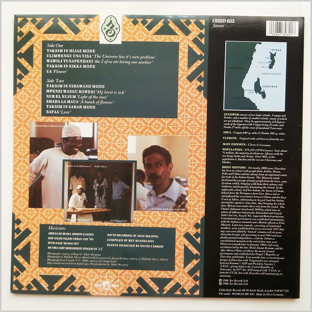 Seif Salim Saleh and Abdullah Mussa Ahmed - Taarab 1: The Music Of Zanzibar (ORBD 032)