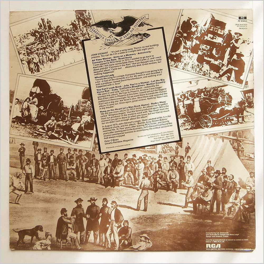 John Stewart Vinyl Record Rock Blues Music LP Rock Music Record LP