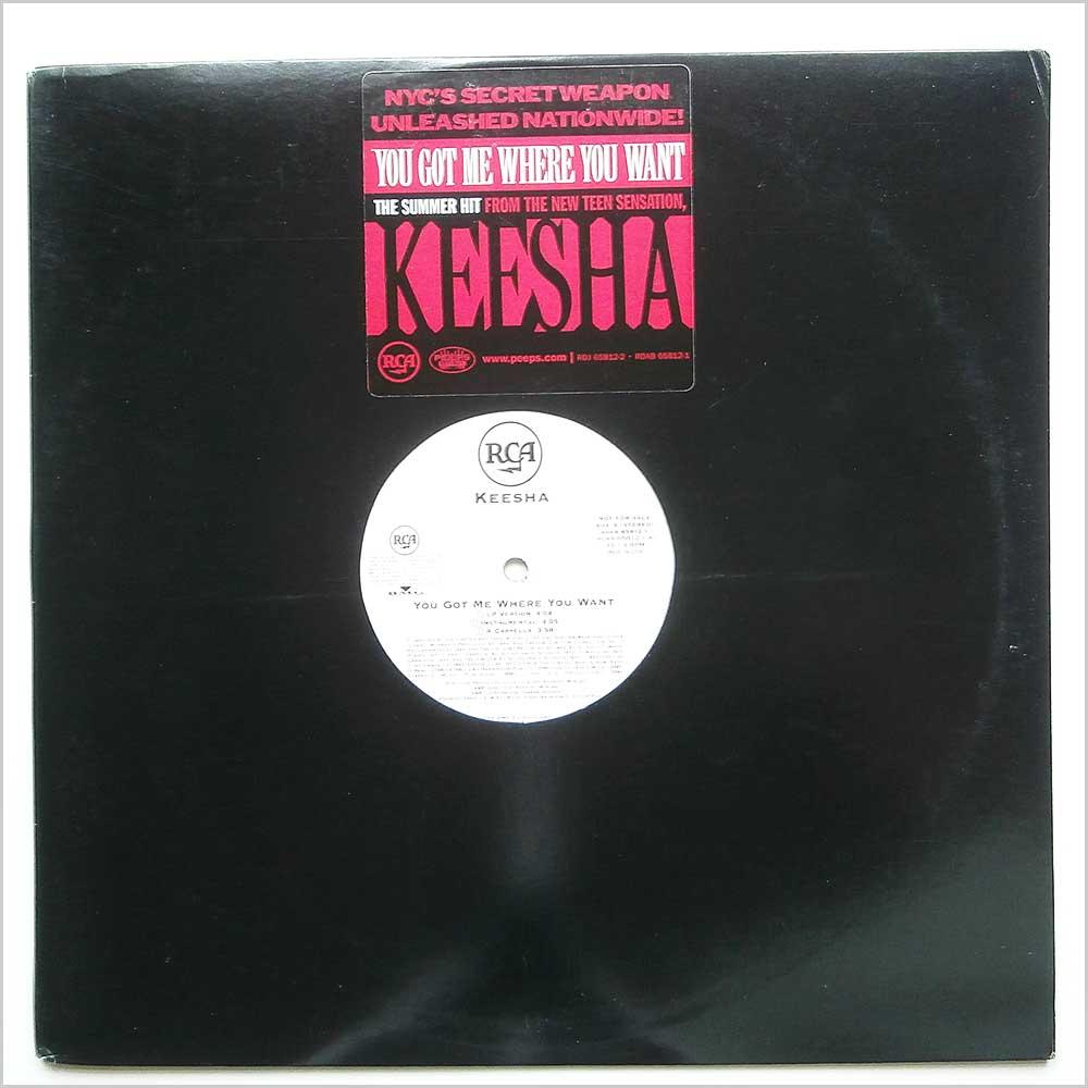 KEESHA - You Got Me Where You Want - 12 inch 45 rpm