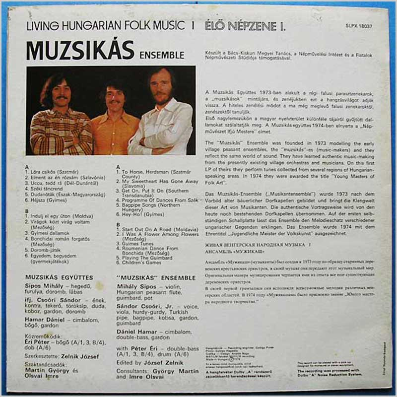 Hungaroton-Records Folk and World Music Record LP for sale ...
