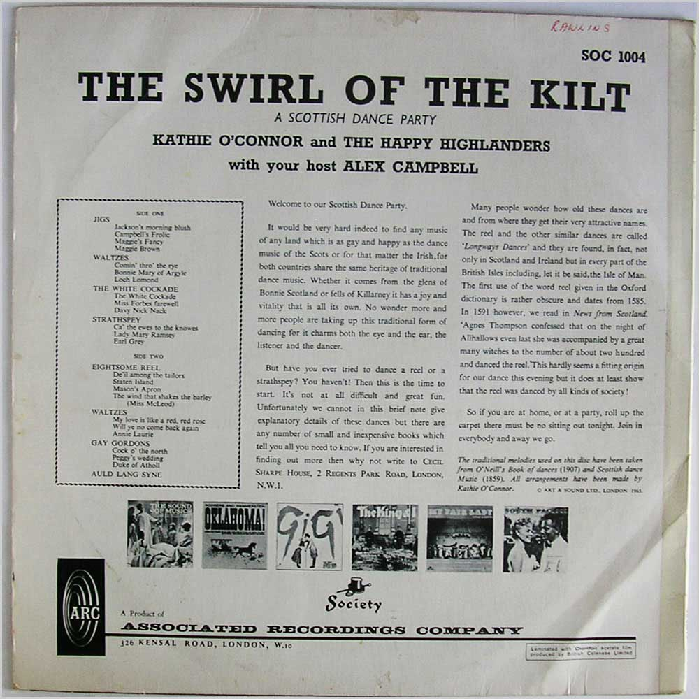 Kathie O'Connor and The Happy Highlanders - The Swirl Of The Kilt (SOC 1004)