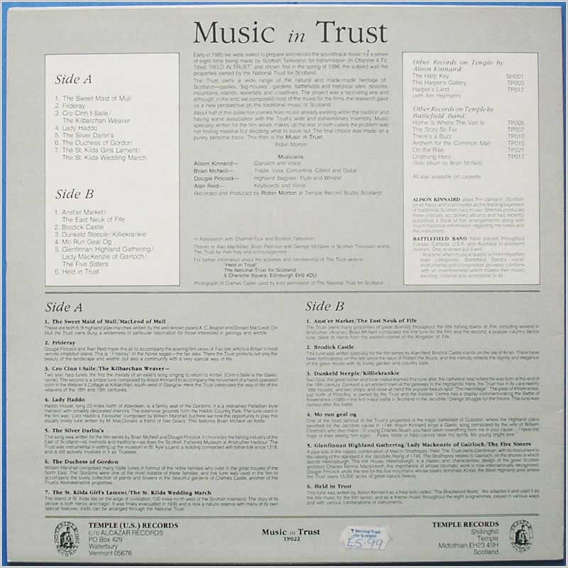 Battlefield Band - Music In Trust (TP022)