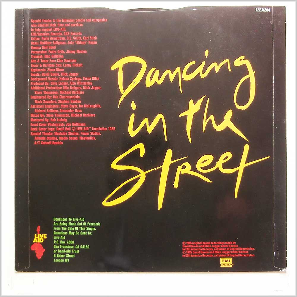 David Bowie, Mick Jagger - Dancing In The Street (12EA204)