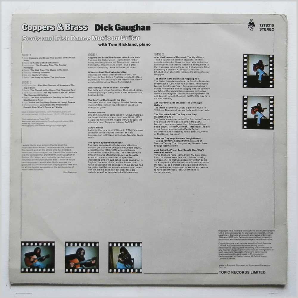 Dick Gaughan - Coppers And Brass (12TS315)