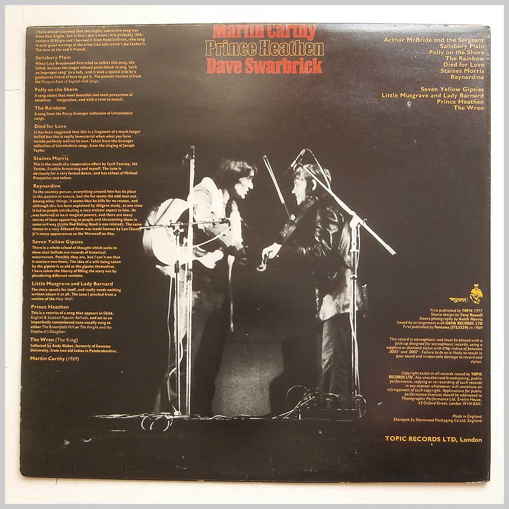 Martin Carthy and Dave Swarbrick - Prince Heathen (12TS344)