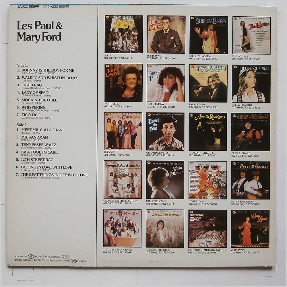Les Paul, Mary Ford - Les Paul and Mary Ford (1A022-58099)