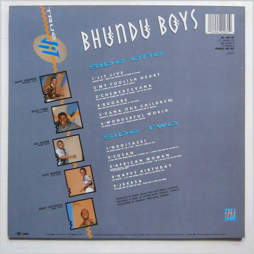 Bhundu Boys - True Jit (242203-1)