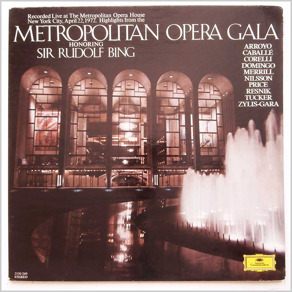 Various - Highlights From Metropolitan Opera Gala Honouring Sir Rudolph Bing (2530 260)