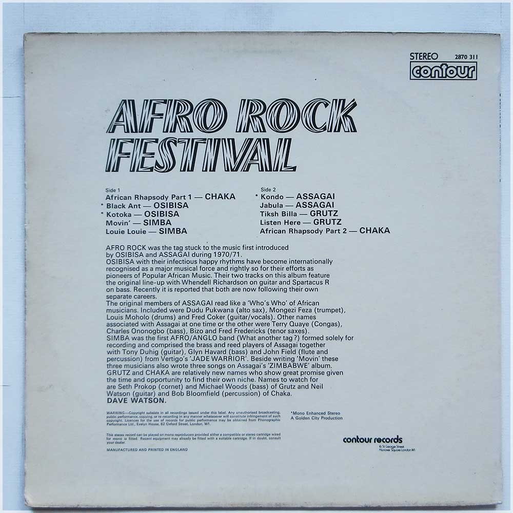 Various - Afro Rock Festival (2870 311)