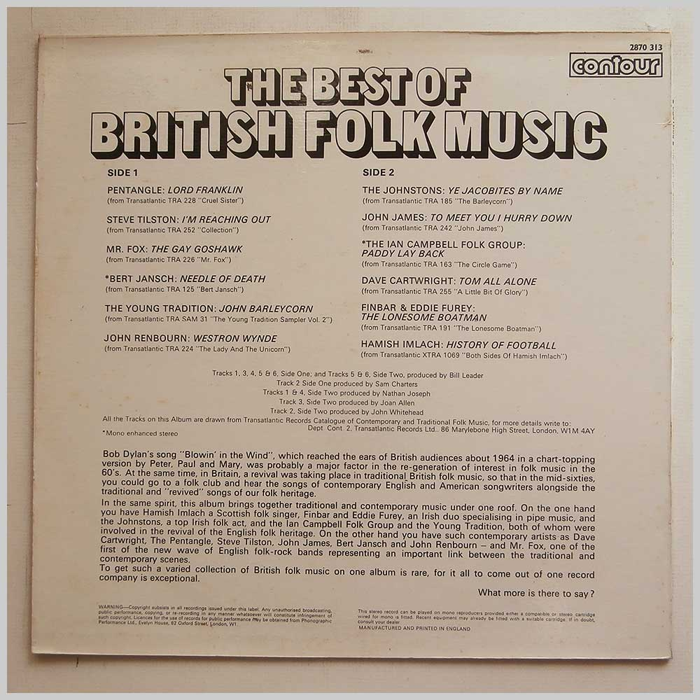 Various - The Best Of British Folk Music (2870 313)