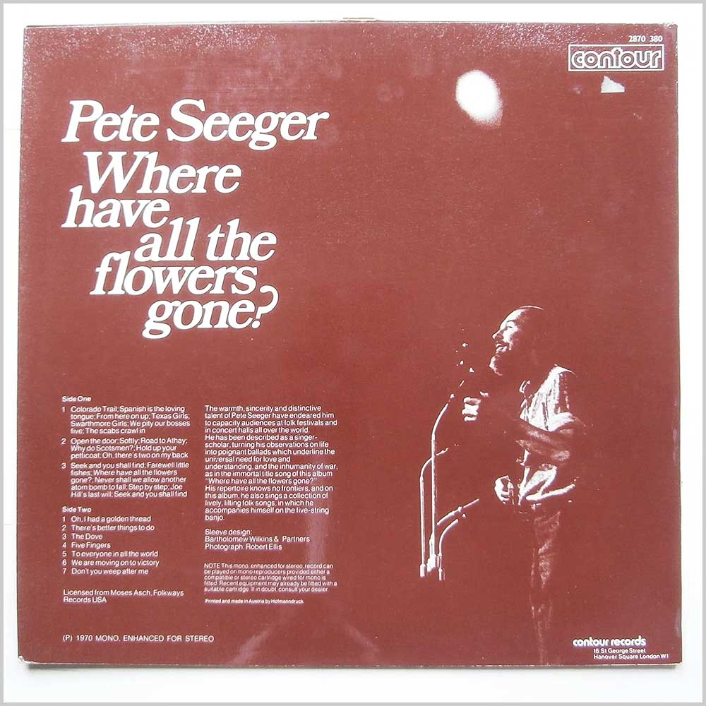Pete Seeger - Where Have All The Flowers Gone? (2870 380)