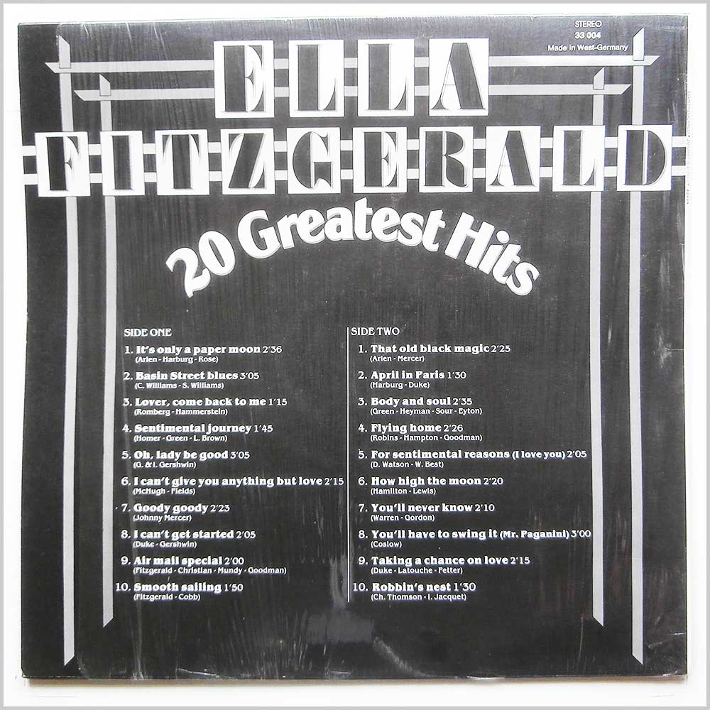 Ella Fitzgerald - 20 Greatest Hits (33 004)