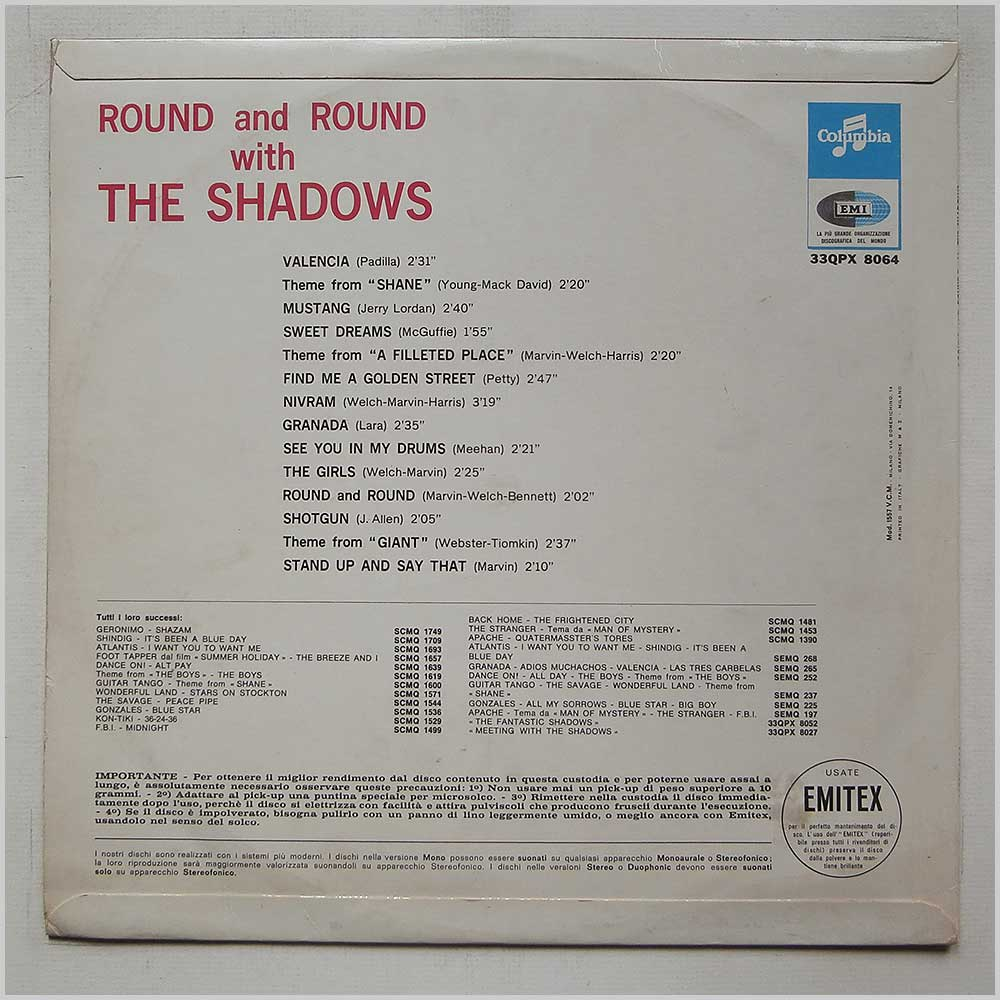 The Shadows - Round And Round With The Shadows (33QPX 8064)