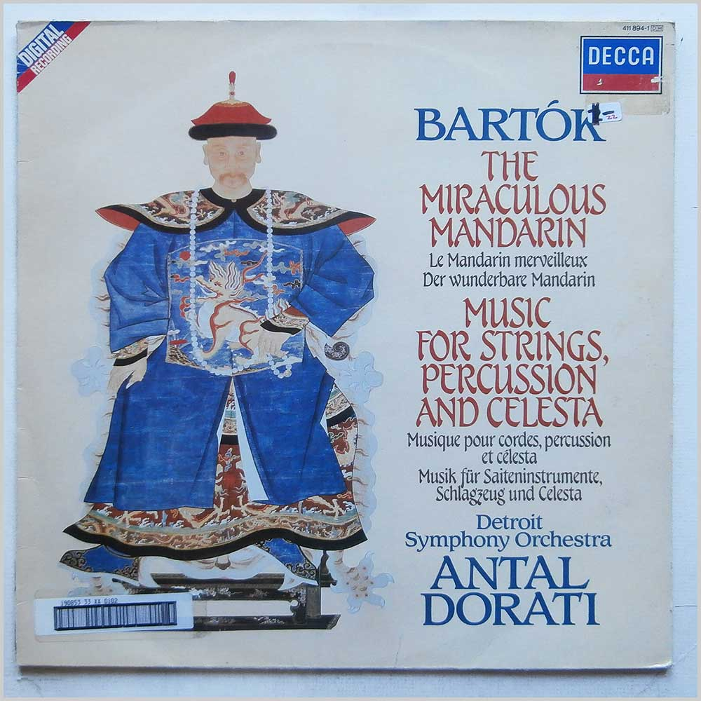Detroit Symphony Orchestra - Bela Bartok: The Miraculous Mandarin, Op. 19, Antal Dorati: Music For Strings, Percussion and Celesta (411 894-1)