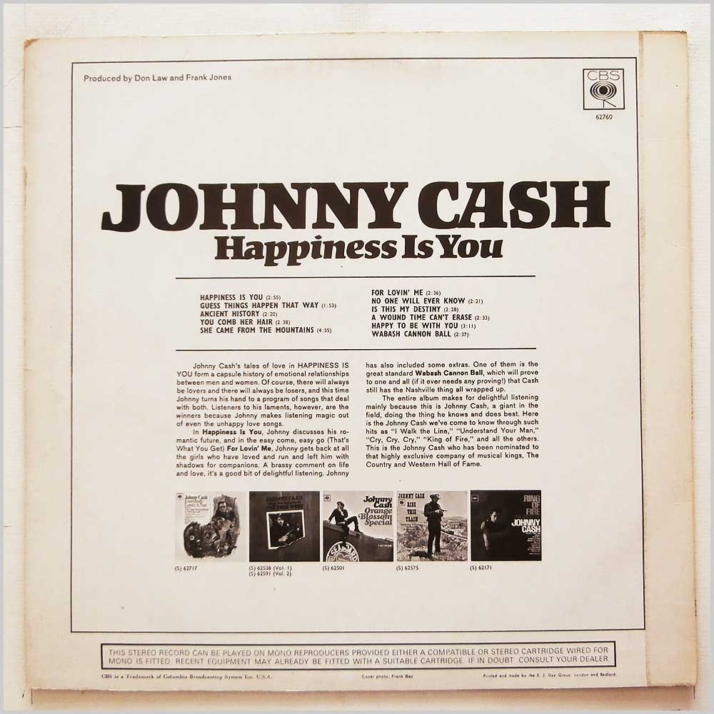 Johnny Cash - Happiness Is You (62760)