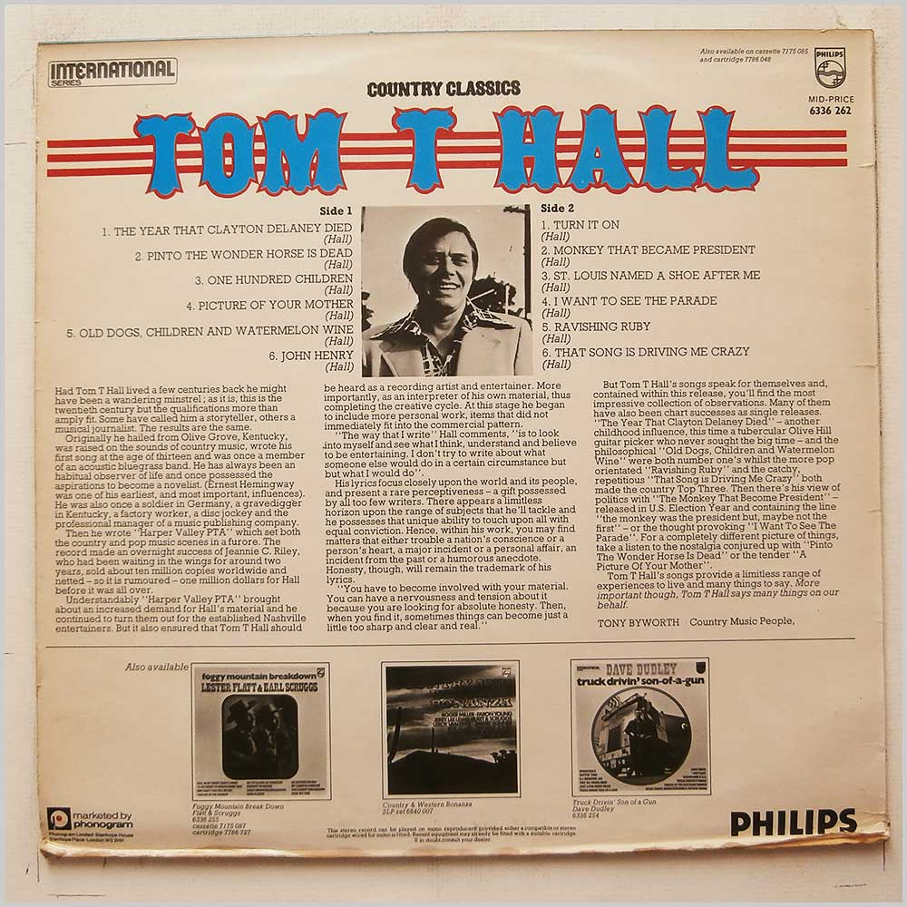 Tom T. Hall - Country Classics (6336 262)