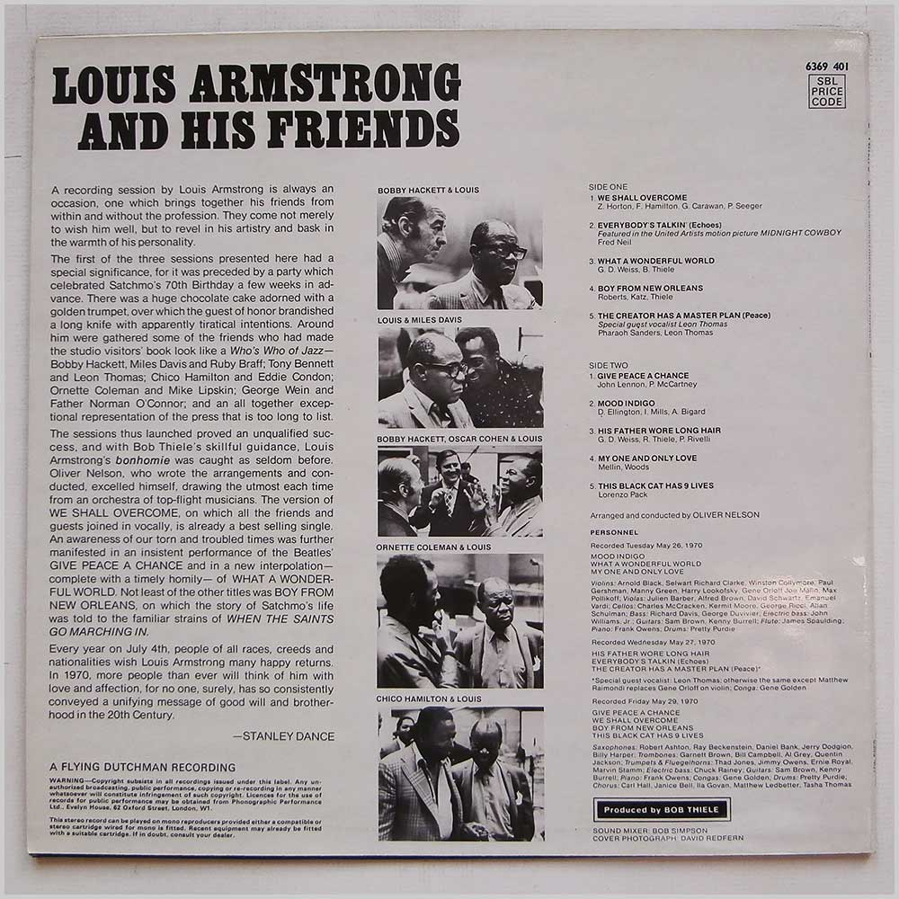Louis Armstrong - Louis Armstrong And His Friends (6349 401)