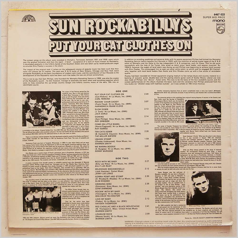 Various - Sun Rockabillys: Put Your Cat Clothes On (6467 025)