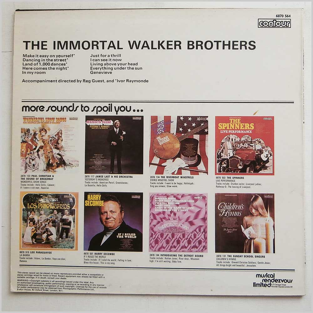 The Walker Brothers - The Immortal Walker Brothers (6870 564)