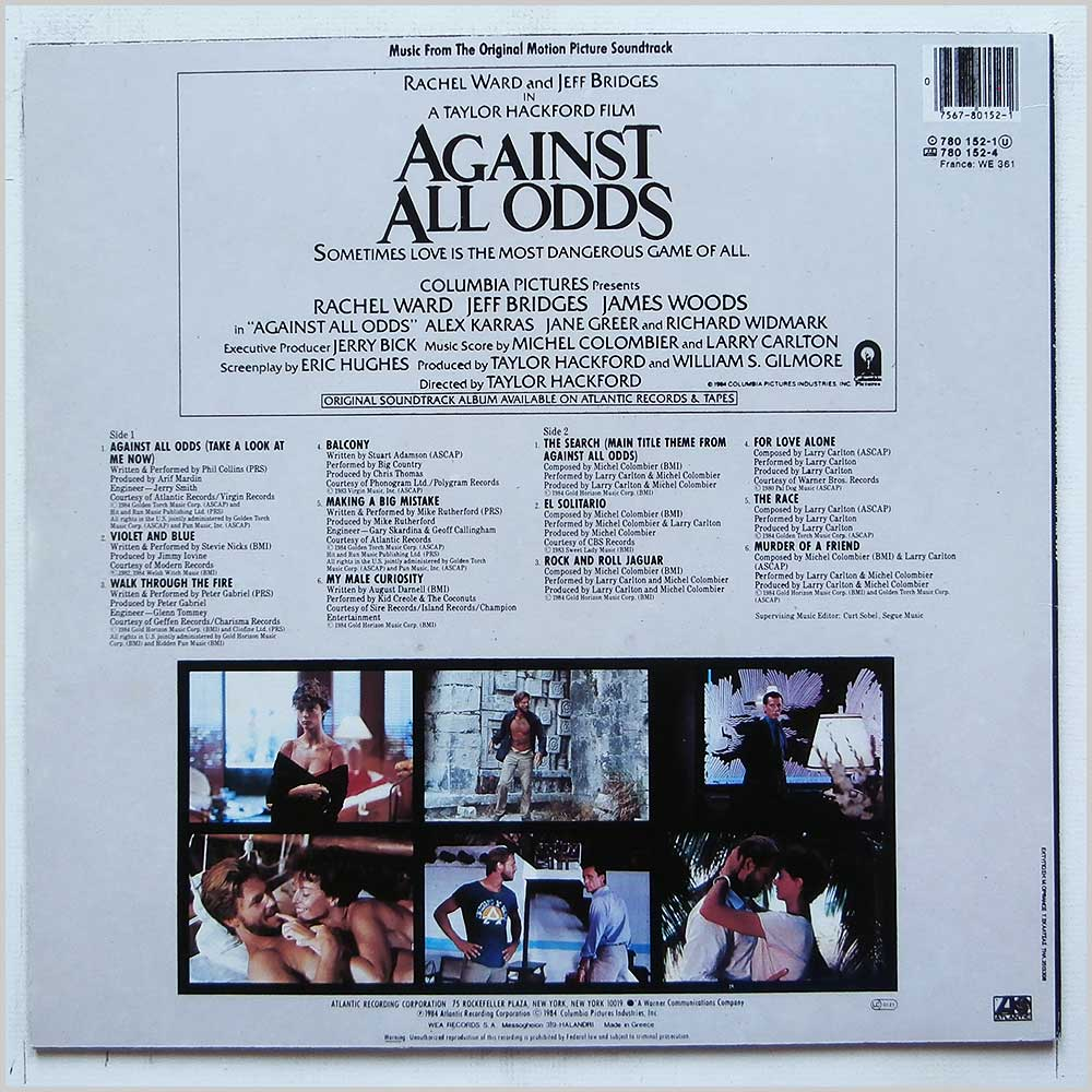 Various - Against All Odds: Music Form The Original Motion Picture Soundtrack (780-152-1)