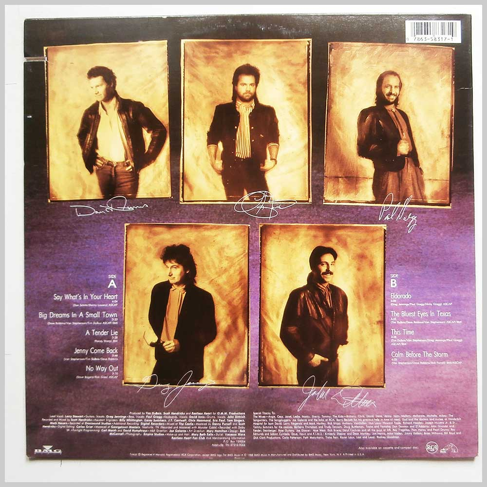 Restless Heart - Big Dreams In A Small Town (8317-1-R)
