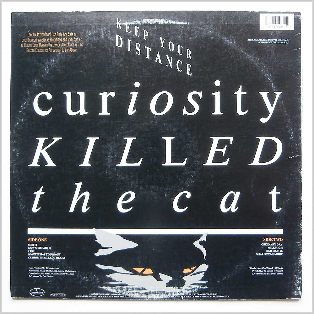 Curiosity Killed The Cat - Keep Your Distance (832-025-1Q1)