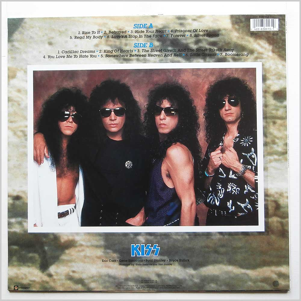 Kiss - Hot In The Shade (838 913-1)