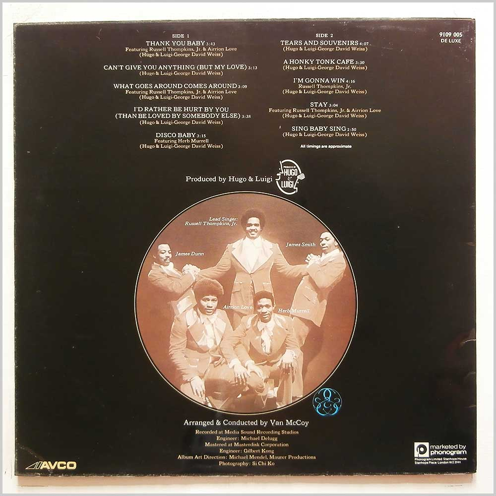 The Stylistics - Thank You Baby (9109 005)
