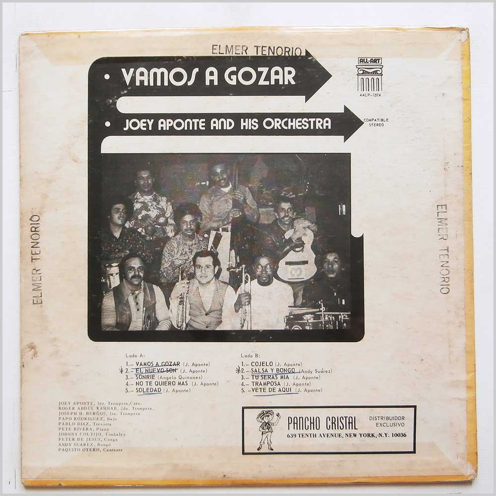 Joey Aponte And His Orchestra - Vamos A Gozar (AALP-1574)