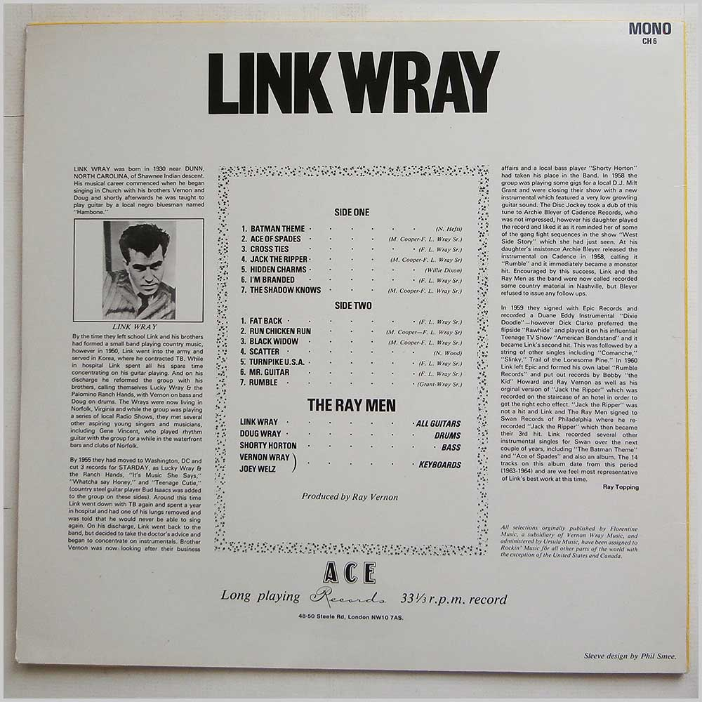 Link Wray - Early Recordings (ACE CH6)