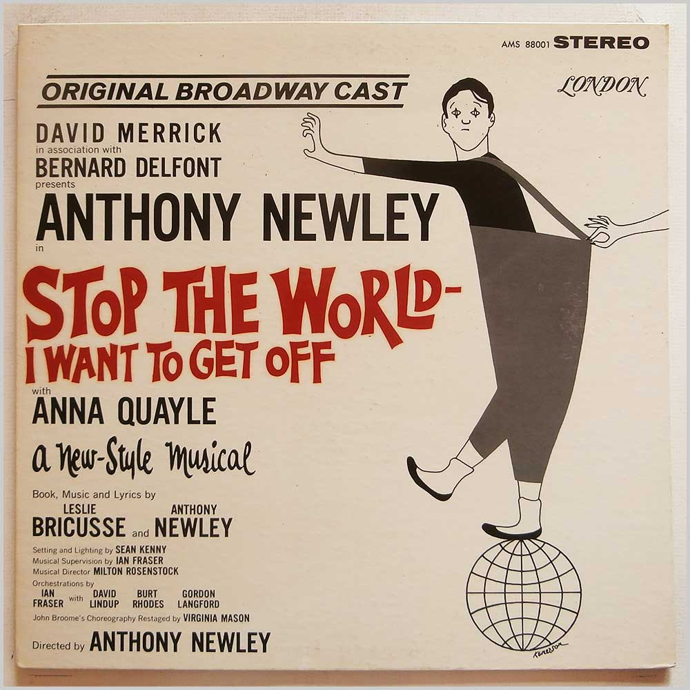 Anthony Newley - Stop The World- I Want To Get Off: Original Broadway Cast (AMS 88001)