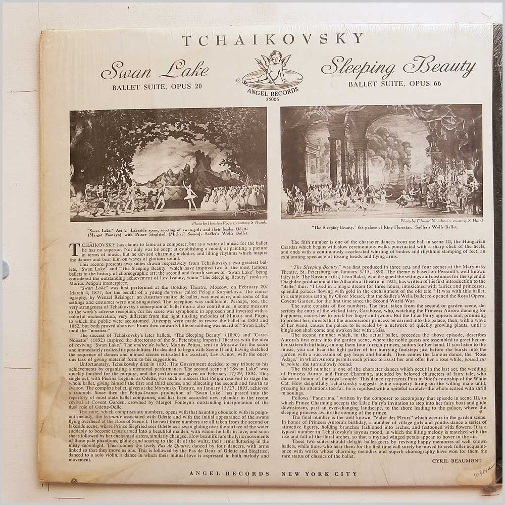 Herbert Von Karajan, The Philharmonia Orchestra - Tchaikovsky: Sleeping Beauty, Swan Lake (ANGEL 35006)