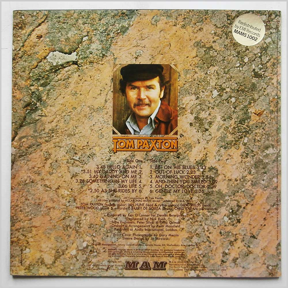 Tom Paxton - Something In My Life (AS-R 1012)