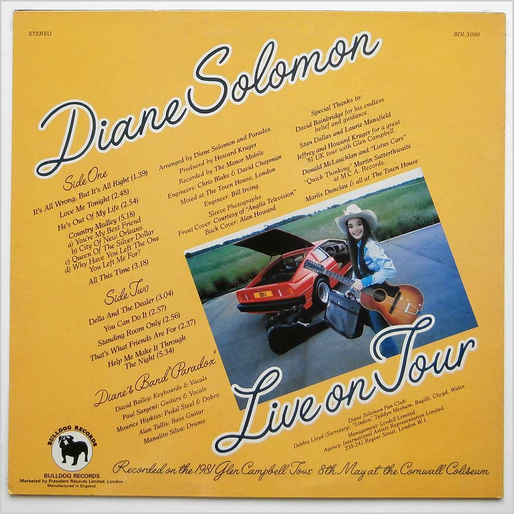 Diane Solomon - Live On Tour (BDL 3000)