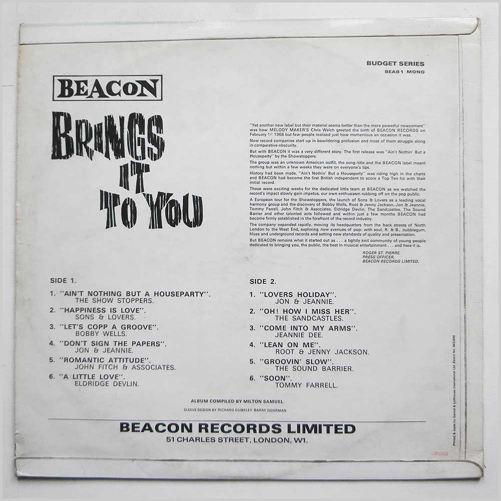 Various - Beacon Brings It To You (BEAB 1)