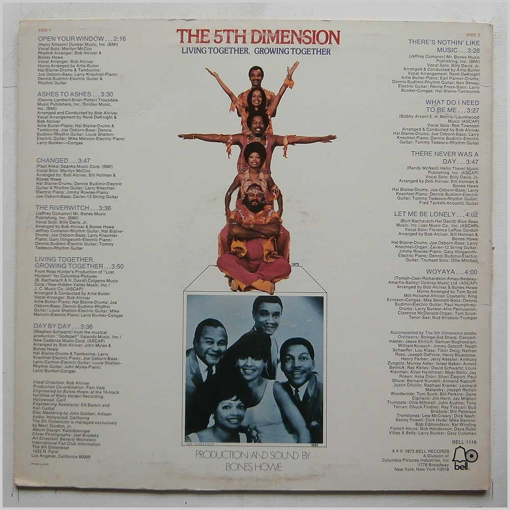 The 5th Dimension - Living Together, Growing Together (BELL 1116)