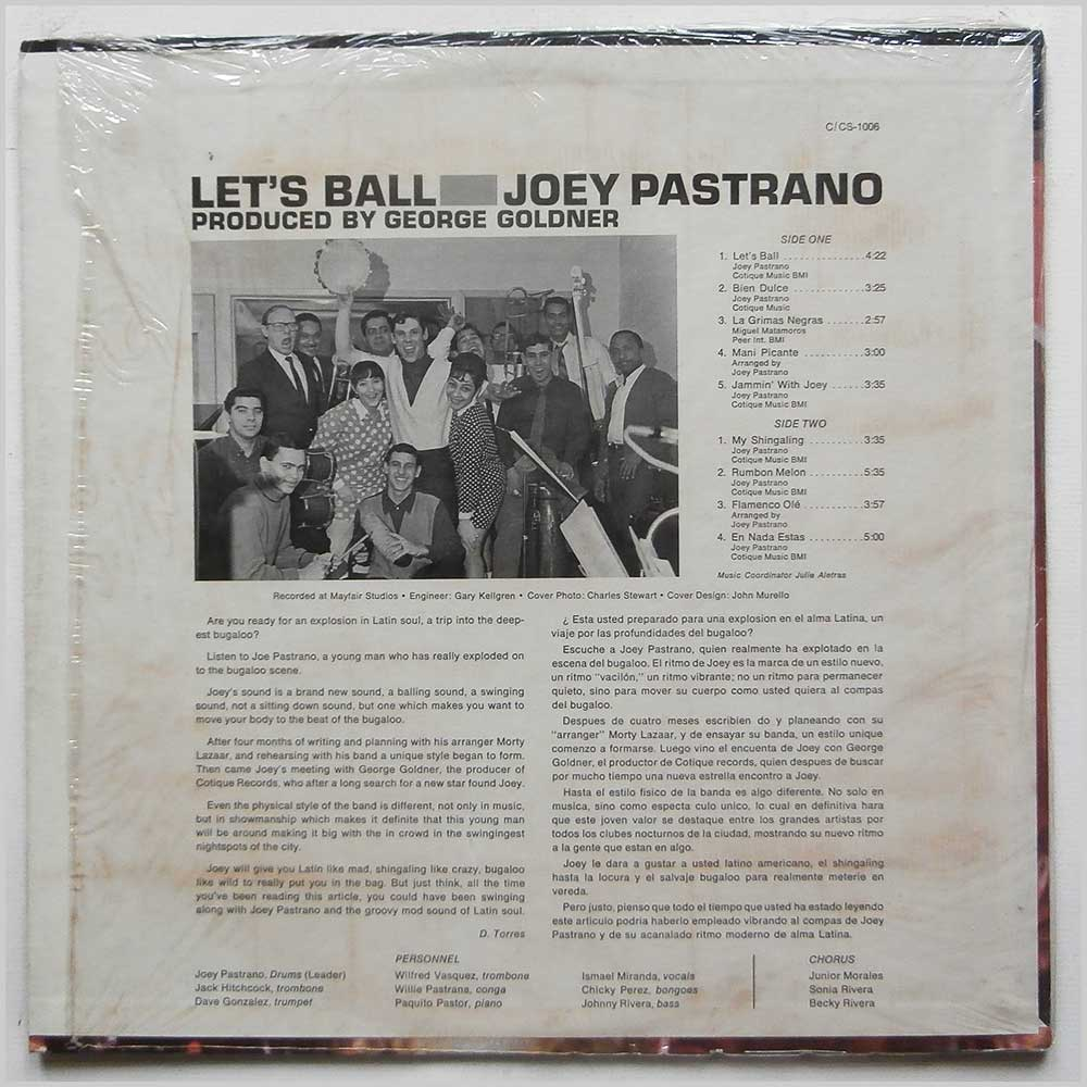 Joey Pastrano And His Orchestra - Let's Ball (C-1006)